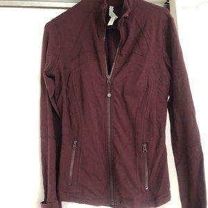 Burgundy Lululemon jacket NWOT